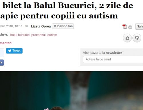 Un bilet la Balul Bucuriei, 2 zile de terapie pentru copiii cu autism