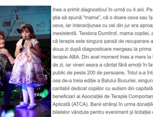 Fetița cu autism care a ridicat o sală în picioare