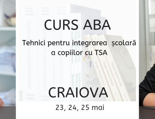 """Curs de formare continua la Craiova: """"Tehnici de lucru în vederea integrării școlare a copiilor cu tulburări de spectru autist"""", mai 2019"""