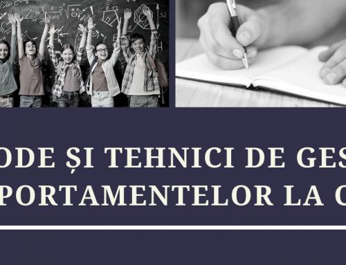 Curs Metode si tehnici de gestionare a comportamentelor la clasa pentru copii cu tulburari de neurodezvoltare – Sibiu, Noiembrie 2019