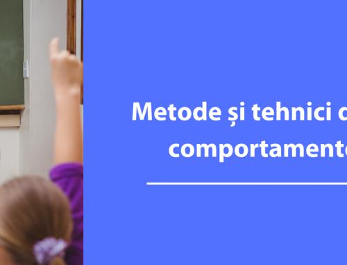 Curs Metode si tehnici de gestionare a comportamentelor la clasa pentru copii cu tulburari de neurodezvoltare – Bacau, Noiembrie 2019